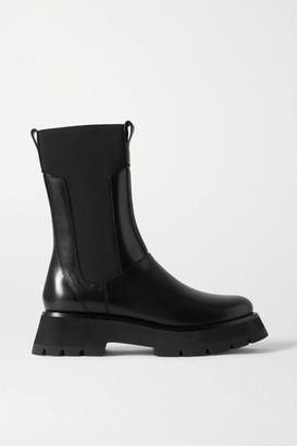 3.1 Phillip Lim Kate Leather Chelsea Combat Boots - Black
