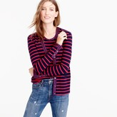J.Crew Metallic-trim striped cardigan sweater