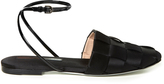 Marco De Vincenzo Woven-satin flat sandals