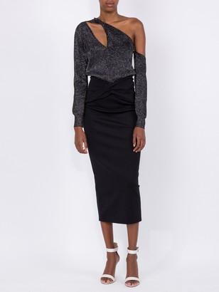 Cushnie Asymmetrical Cut-out Sweater Black