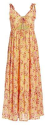 Banjanan Women's Zoe Floral Pleated Midi Dress