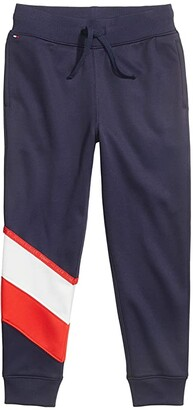 Tommy Hilfiger Adaptive Track Pants with Elastic Waist (Little Kids/Big Kids) (Peacoat) Men's Casual Pants