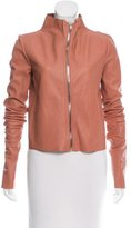 Rick Owens Lilies Mock Collar Leather Jacket w/ Tags