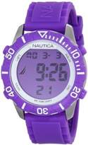 "Nautica Unisex N09931G ""NSR 100"" Fashion Digital Watch with Purple Silicone Band"