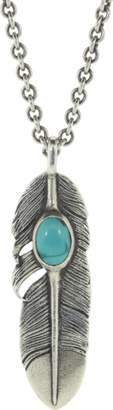 John Varvatos Turquoise Feather Necklace