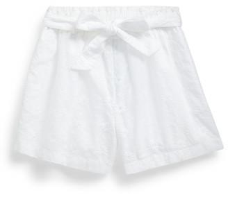 Ralph Lauren Eyelet Cotton Paperbag Short