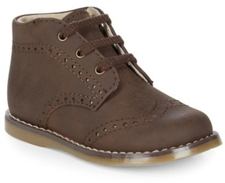 FootMates Baby's Cole Leather Combat Boots