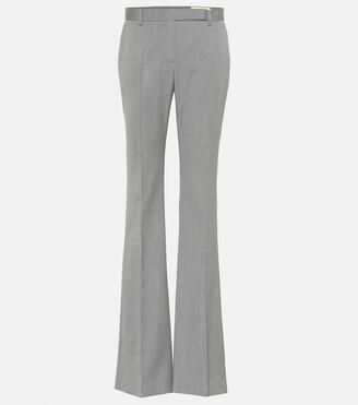 Alexander McQueen Striped wool flared pants