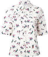 Paul Smith printed shortsleeved shirt - women - Cotton - 42