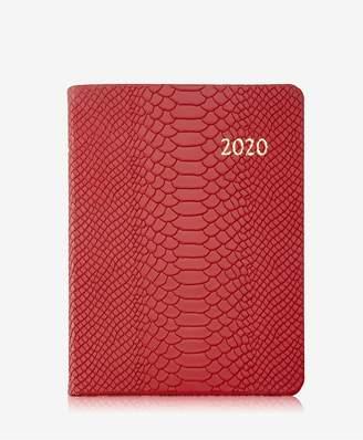 GiGi New York 2020 Desk Planner In Red Embossed Python Leather
