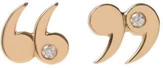 """Mcfarlane Fine Jewellery Diamond Accented """"Quote Un-Quote"""" Earrings"""