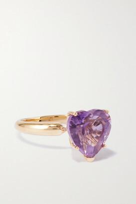 Fry Powers Rainbow Heart 14-karat Gold Amethyst Ring - Purple