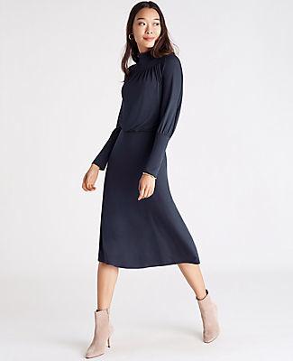 Ann Taylor Turtleneck Flare Dress