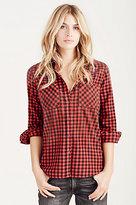 True Religion Plaid Utility Womens Shirt
