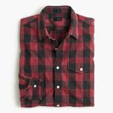 J.Crew Slim heathered slub cotton shirt in buffalo check