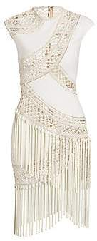 Oscar de la Renta Women's Crochet Cocktail Dress