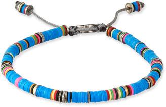 M. Cohen Men's African Vinyl Discs Bracelet, Blue