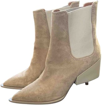 Givenchy Beige Suede Ankle boots