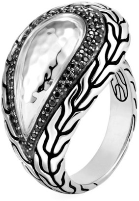 John Hardy Classic Chain Hammered Sterling Silver & Mixed-Stone Ring
