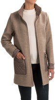 Weatherproof Mixed Media Topper Coat (For Women)