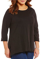 Westbound Plus 3/4 Sleeve 1 Pocket Tunic