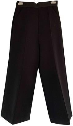 Self-Portrait Black Viscose Trousers