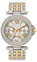 Saks Fifth Avenue Two-Tone Stainless Steel Sparkle Bracelet Watch