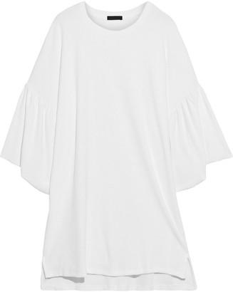 ATM Anthony Thomas Melillo Ruffled Cotton-terry Mini Dress