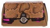 Balenciaga Snakeskin Diary Clutch
