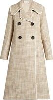 See by Chloe Double-breasted A-line woven coat
