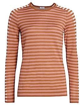Akris Punto Women's Tricolor Wool Pullover