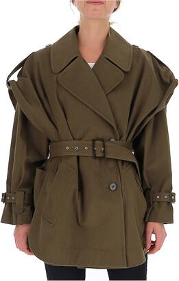 Alberta Ferretti Double-Breasted Short Trench Coat