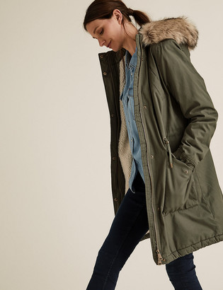 Marks and Spencer Borg Lined Parka