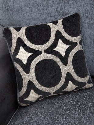 Bardot Left-Hand Standard Back Corner Chaise Sofa +Footstool