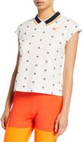 Nike NikeCourt Cropped Cap-Sleeve Top