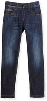 Fendi Slim-Fit Monster-Pocket Jeans, Blue, Size 2-5