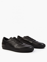 Common Projects Black Leather Basketball Sneakers