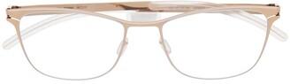 Mykita Romina clear-lens wayfarer glasses