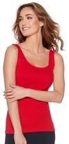 M&Co Ribbed scoop neck vest top