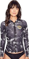 Billabong Women's Surf Capsule Neoprene Peeky Jacket Zip Rashguard