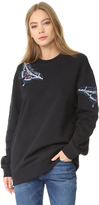 Markus Lupfer Embroidered Butterfly Sweatshirt
