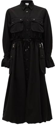 Noir Kei Ninomiya Cargo-pocket Drawstring Shirt Dress - Black