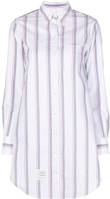 Thom Browne Striped Cotton Shirtdress