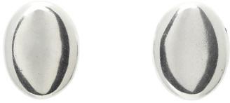 Isabel Marant Silver Oval Stud Earrings