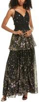 Amur Mariposa Silk Gown