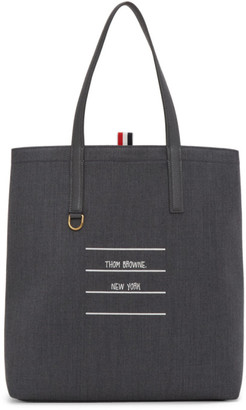 Thom Browne Grey Twill Lined Tote