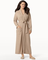 Soma Intimates Long Cashmere Robe Heather Sand