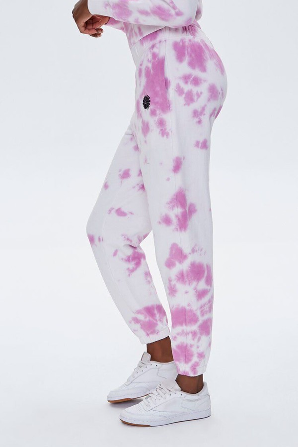 Thumbnail for your product : Forever 21 Embroidered Floral Cloud Wash Joggers