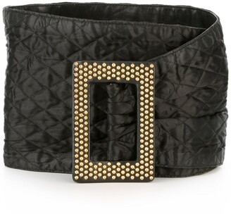 Yves Saint Laurent Pre Owned 1980's Wide Quilted Belt