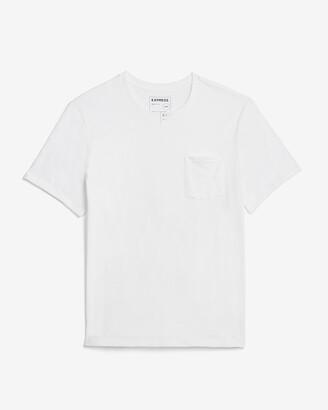 Express Crew Neck Slub Pocket T-Shirt